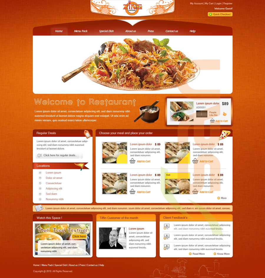 Restaurant Website Design San Software San Software